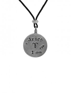 Aries Zodiac Pendant Back