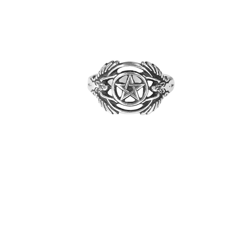 Sterling Silver Guardian Angel Ring
