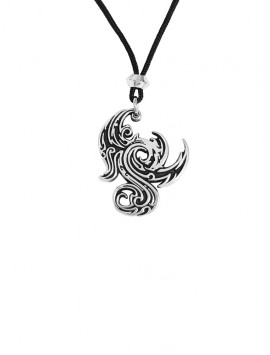Pewter Gothic Dragon Pendant