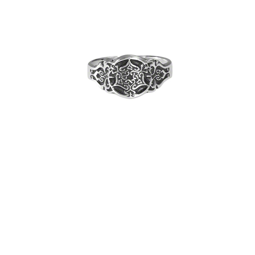 Sterling Silver Heart Triskele Ring