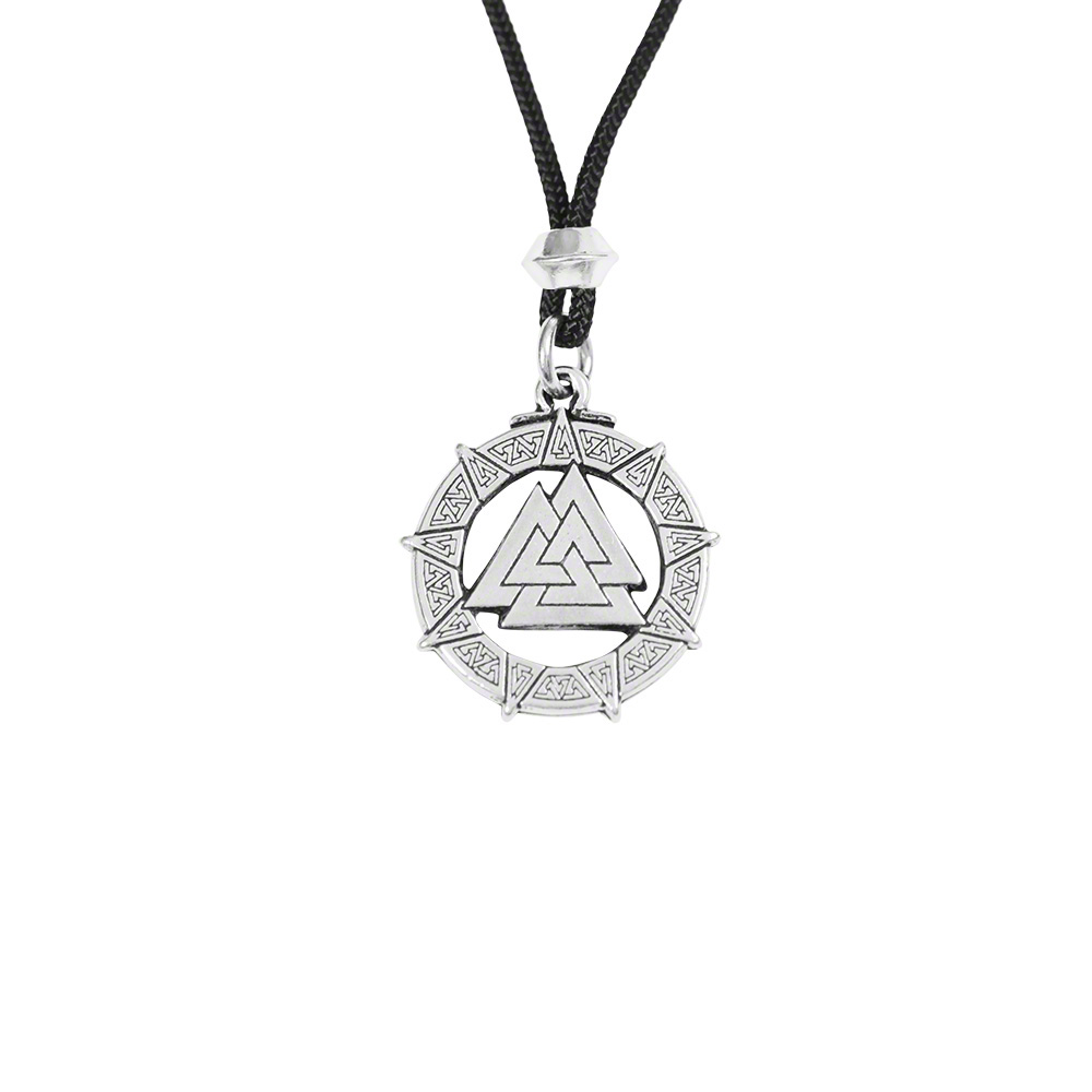 This pendant leads the wearer's Higher Self to Victory over Darkness, and to balance the triple triangles of Mind, Body, and Spirit bringing Resurrection and Rebirth.