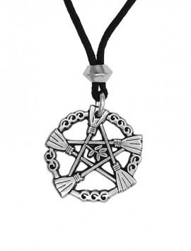 Pewter Broom Pentacle