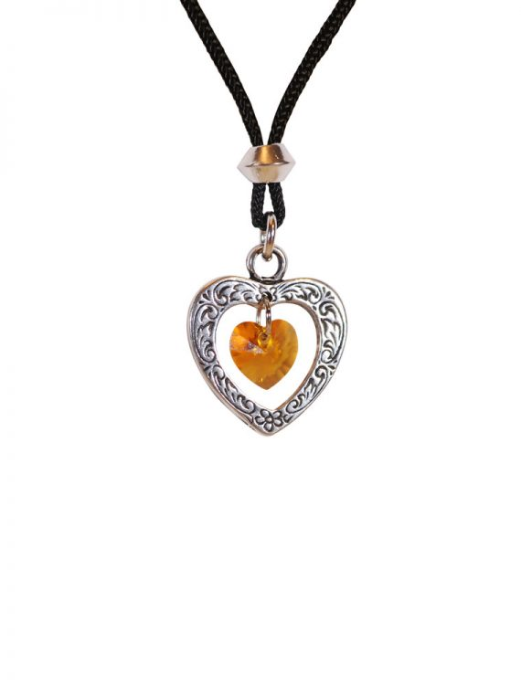 Birth Stone Heart Pendants
