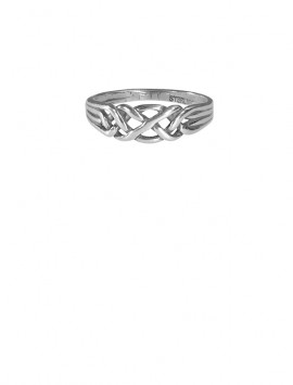 Sterling Silver Faux Puzzle Ring